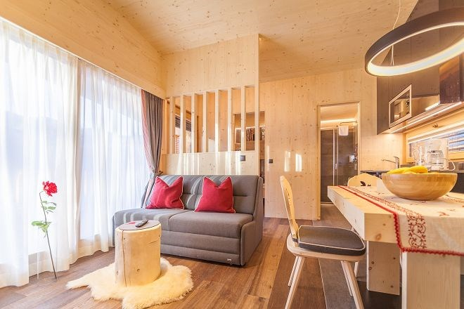 Die Alpine Lodges am Camping Olympia