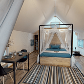 Luxuscamping: Glamping Tent Safari Couple M auf Lakeside Petzen Glamping