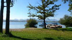 Luxuscamping: Chalets am Wallersee - Variante 3