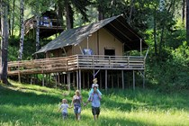 "Luxuscamping: Safari-Lodge-Zelt ""Lion"" - Safari-Lodge-Zelt ""Lion"" am Nature Resort Natterer See"