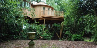 Luxuscamping - Terrasse - Gloucestershire - The Harptree Treehouse