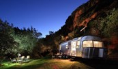 Luxuscamping - Terrasse - Glamping Airstream