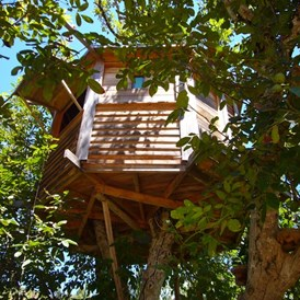 Glampingunterkunft: Bildquelle: http://walnut-tree-farm.com/treehouse/ - The Walnut Tree Farm Treehouse