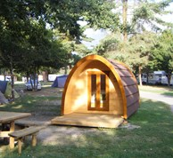 Luxuscamping - W-Lan - Schweiz - Pods auf TCS Camping Sion
