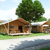 Luxuscamping: Safari-Zelt Deluxe auf TCS Camping Solothurn