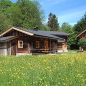 Luxuscamping: Almberg Alm im Blumenmeer - Almhütte Almberg Alm im Almdorf Grubhof