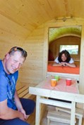 Luxuscamping - W-Lan - Oberbayern - Schlaffass auf Via Claudia Camping
