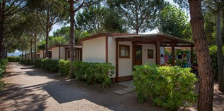 Luxuscamping - Restaurant - Cecina - Mobilheim Tipo B 4+1 Pers. auf Camping Mareblu