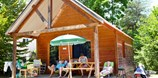 Luxuscamping - Divonne-les-Bains - Chalet Indigo auf Camping Huttopia Divonne