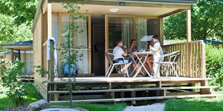Luxuscamping - Bracieux - Mobilheim Lodge auf Camping Huttopia Les Chateaux