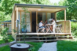 Luxuscamping - Restaurant - Loir et Cher - Mobilheim Lodge auf Camping Huttopia Les Chateaux