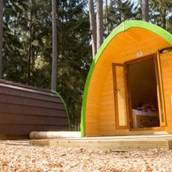 Luxuscamping: Trekking-POD am Waldcamping Brombach