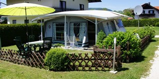 Luxuscamping - Attersee - Mietwohnwagen am Camping Grabner