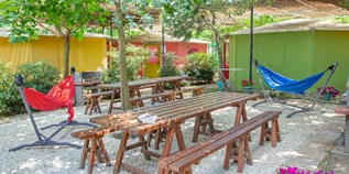 Luxuscamping - Terrasse - Griechenland - Hostel auf Armenistis Camping & Bungalows