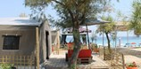 Luxuscamping - Terrasse - Griechenland - CampTent auf Armenistis Camping & Bungalows