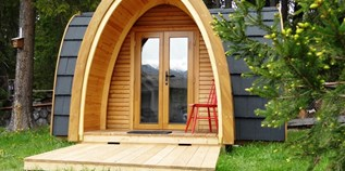 Luxuscamping - Graubünden - Holziglus / Podhouses auf dem Camping St. Cassian