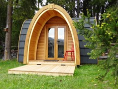 Luxuscamping - Rheintal / Flims - Holziglus / Podhouses auf dem Camping St. Cassian