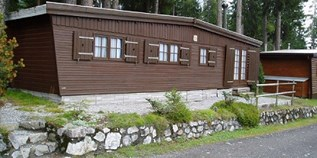 Luxuscamping - Graubünden - Holzchalet auf Camping St. Cassian