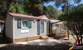 Luxuscamping - Canet-en-Roussillon - Mobilheim Grand Charme auf Camping Ma Prairie