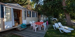 Luxuscamping - Canet-en-Roussillon - Mobilheim Charme auf Camping Ma Prairie