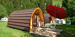 Luxuscamping - Graubünden - Family Pod auf TCS Camping Disentis