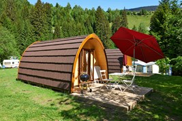 Luxuscamping - Rheintal / Flims - Family Pod auf TCS Camping Disentis