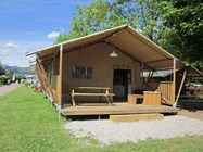 Luxuscamping: Safarizelt Deluxe auf TCS Camping Lugano