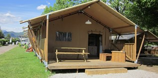 Luxuscamping - Tessin - Safarizelt Deluxe auf TCS Camping Lugano