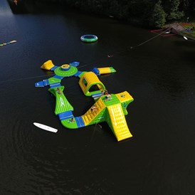 "Glampingunterkunft: Mega Aqua-Park - Safari-Lodge-Zelt ""Giraffe"" am Nature Resort Natterer See"