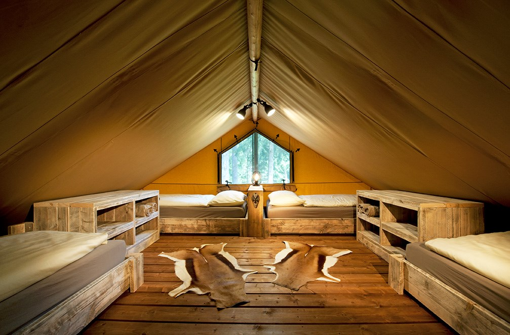 "Glampingunterkunft: Mezzanine Safari-Lodge-Zelt ""Giraffe"" - Safari-Lodge-Zelt ""Giraffe"" am Nature Resort Natterer See"