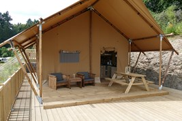 Luxuscamping - Swimmingpool - Ardennes - Parcs Naturels - Safarizelt mit Luxusausstattung Glamping Lodge