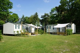 Luxuscamping - Swimmingpool - Emsland, Mittelweser ... - Familychalet auf Camping De Zandstuve