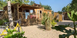 Luxuscamping - Swimmingpool - Hérault - Cabane Canardiere für 6 Personen am Camping Le Sérignan Plage