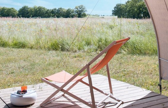 Zelt Terrasse : Zelt Coco Sweet am Camping de la Liez Ihre
