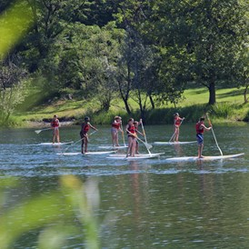 Glampingunterkunft: Stand-Up Paddle - Bungalow CAMELIA 4 auf Campofelice Camping Village