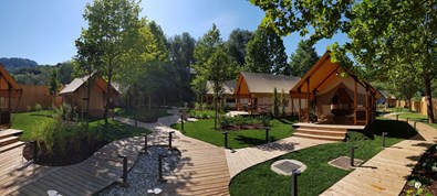 Luxuscamping - WC - Slowenien - Glamping-Zelt M auf Glamping Olimia Adria Village