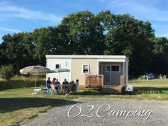 Luxuscamping - Swimmingpool - Frankreich - Mobilheim 2 Schlafzimmer auf o2 Camping