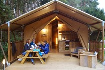 Luxuscamping: Safarizelt am Waldcamping Brombach