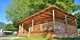 Luxuscamping - Tessin - Bungalow VIOLET am Camping Tamaro