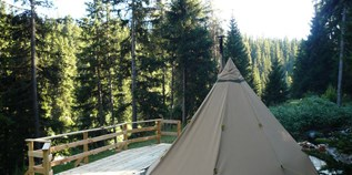 Luxuscamping - Engadin - Tipis am Camping Chapella