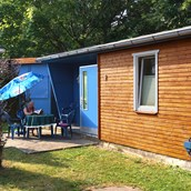 Luxuscamping: Unsere großen Bungalows (50m²) - Bungalows auf Camping Sternberger Seenland