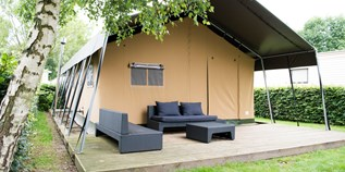 Luxuscamping - Belgien - Campingzelte auf Camping Klein Strand