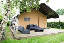Luxuscamping - Restaurant - Belgien - Campingzelte auf Camping Klein Strand