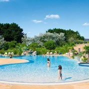 Luxuscamping - Swimmingpool - Plouescat - Mobilheim Cosy 6 Personen 3 Schlafzimmer von Canvas auf Camping la Baie du Kernic