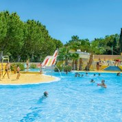 Luxuscamping - Swimmingpool - Agde - Mobilheim Relax 6 Personen 3 Schlafzimmer von Canvas auf Camping Le Parc des Sept Fonts