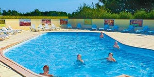Luxuscamping - Swimmingpool - Schwarzwald - Lodge 6 Personen 2 Schlafzimmer von Canvas auf Camping Le Ried