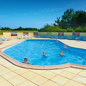 Luxuscamping - Swimmingpool - Bas Rhin - Mobilheim Cosy 4 Personen 2 Schlafzimmer von Canvas auf Camping Le Ried