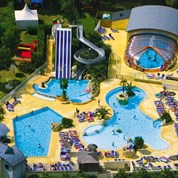Luxuscamping - Swimmingpool - Nevez - Mobilheim Relax Plus 5 Personen 2 Schlafzimmer von Canvas auf Camping les Deux Fontaines