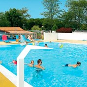 Luxuscamping - Swimmingpool - Haute Vienne - Mobilheim Cosy 5 Personen 2 Schlafzimmer von Canvas auf Camping Les Ormeaux