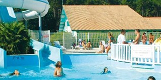 Luxuscamping - Swimmingpool - Bordeaux - Mobilheim Relax Plus 6 Personen 3 Schlafzimmer von Canvas auf Camping Lou Broustaricq